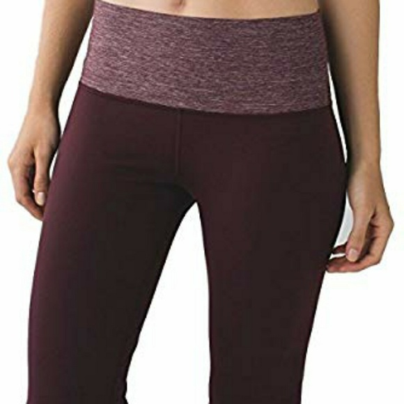 b1fb7b96d lululemon athletica Pants - LULULEMON - Groove pant III high rise Bordeaux